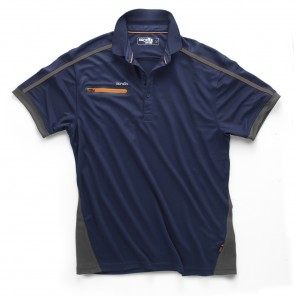 Scruffs Pro Active Zip Polo Navy