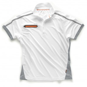Scruffs Pro Active Zip Polo White